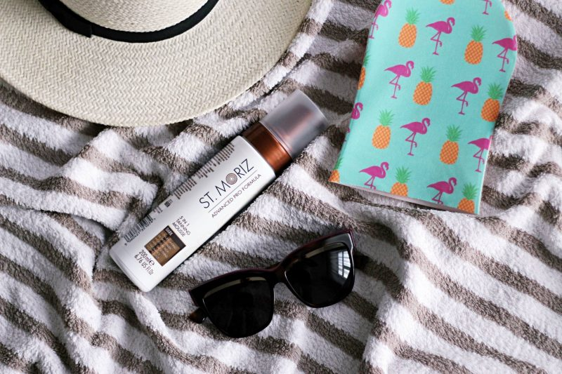 Sun kissed skin in a middle of the cold season: St. Moriz self tanner